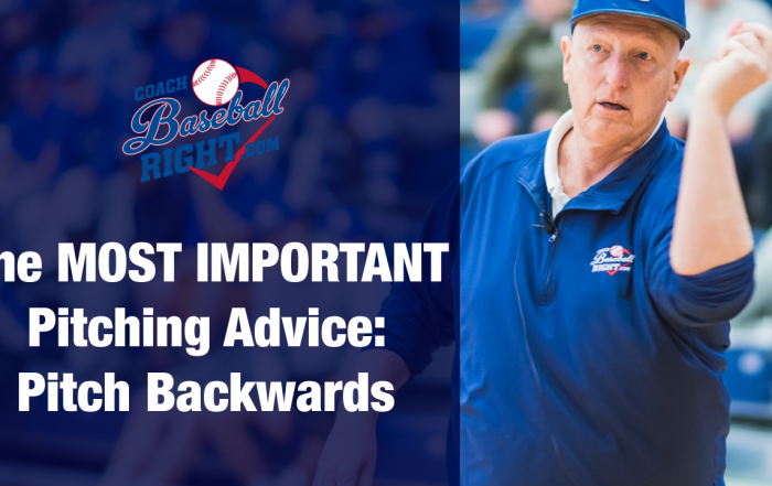 Teach your Players about Pitching Backwards